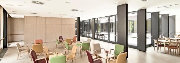 "Interior design for ""Home for the elderly Idrija"", Slovenija; finished in 2012"